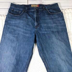 Men's Old Navy Blue Jeans used flawed stain thigh